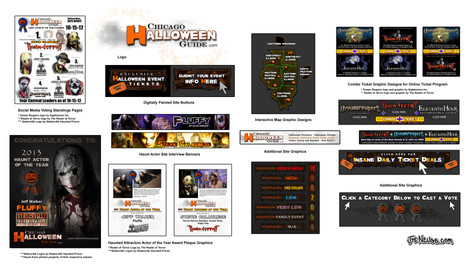 Chicago Halloween Guide Site Graphics
