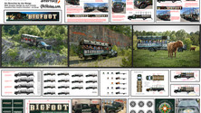 Bigfoot Discovery Expedition Ride Vehicles