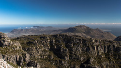Blick vom Tafelberg bis zum Kap
