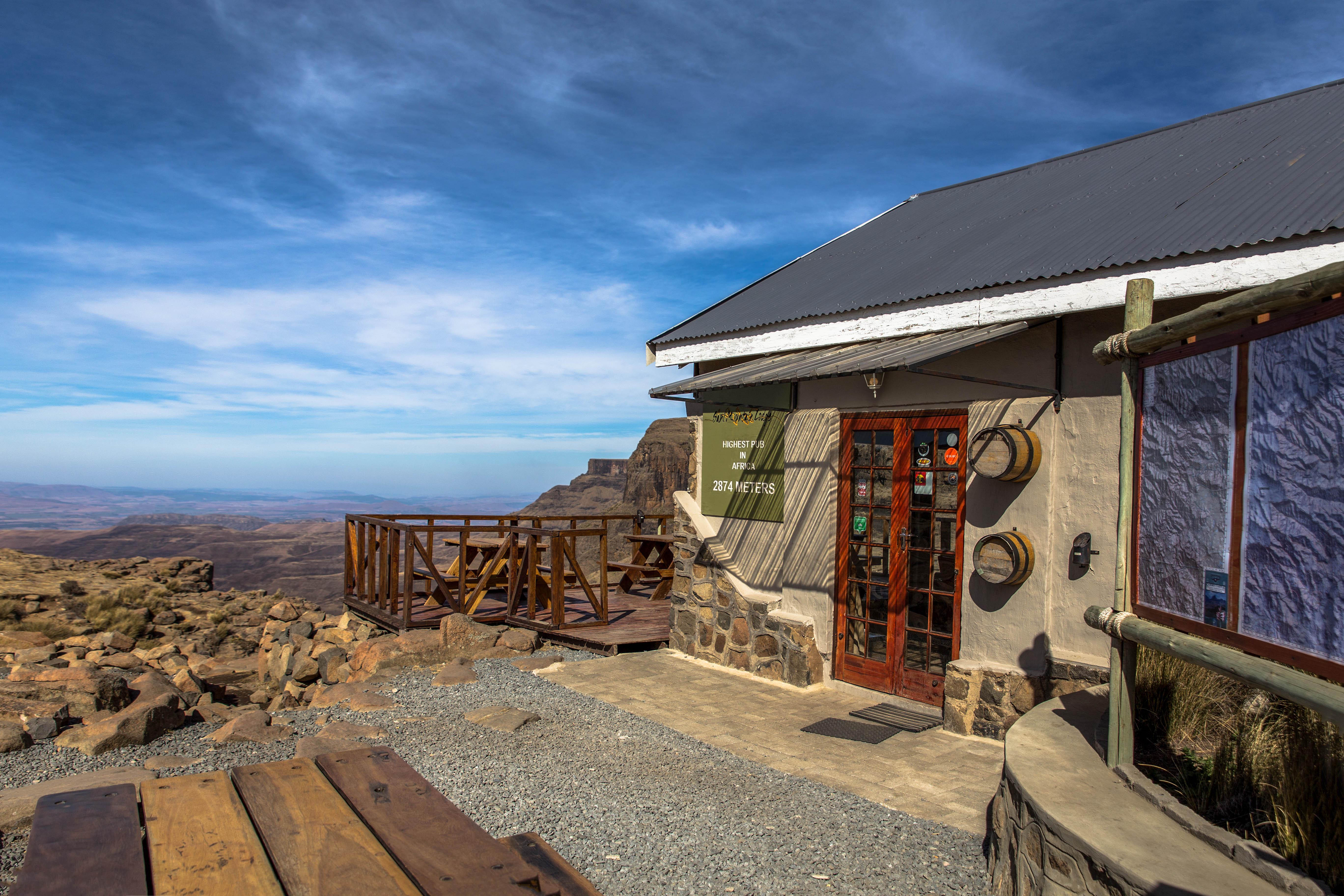 Afrikas höchster Pub auf 2.874 m
