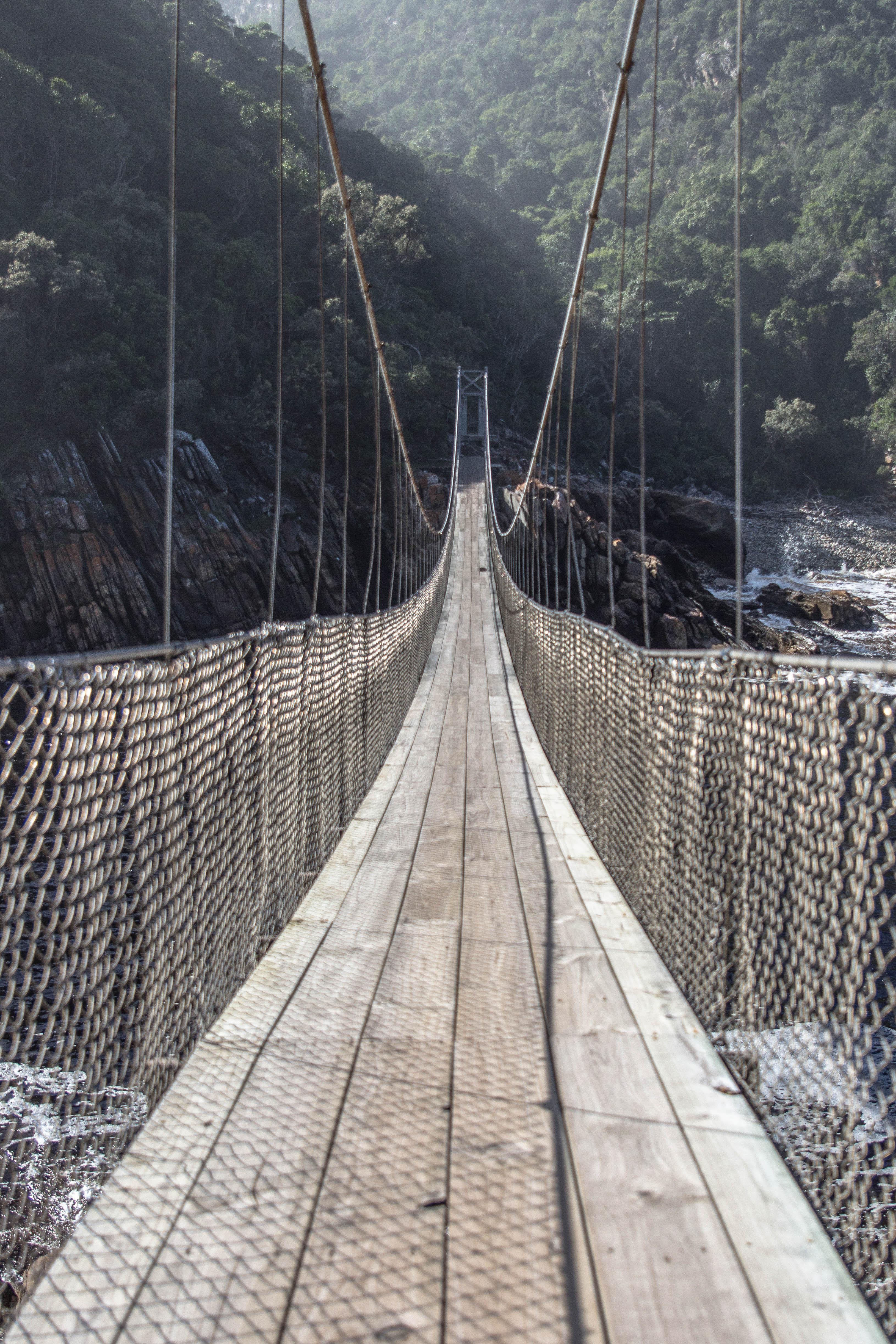 Hängebrücke über den Storms River