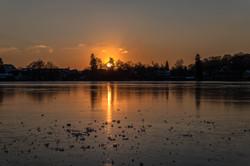 Sonnenuntergang am Weßlinger See