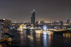 Bangkok bei Nacht vom Hotel aus
