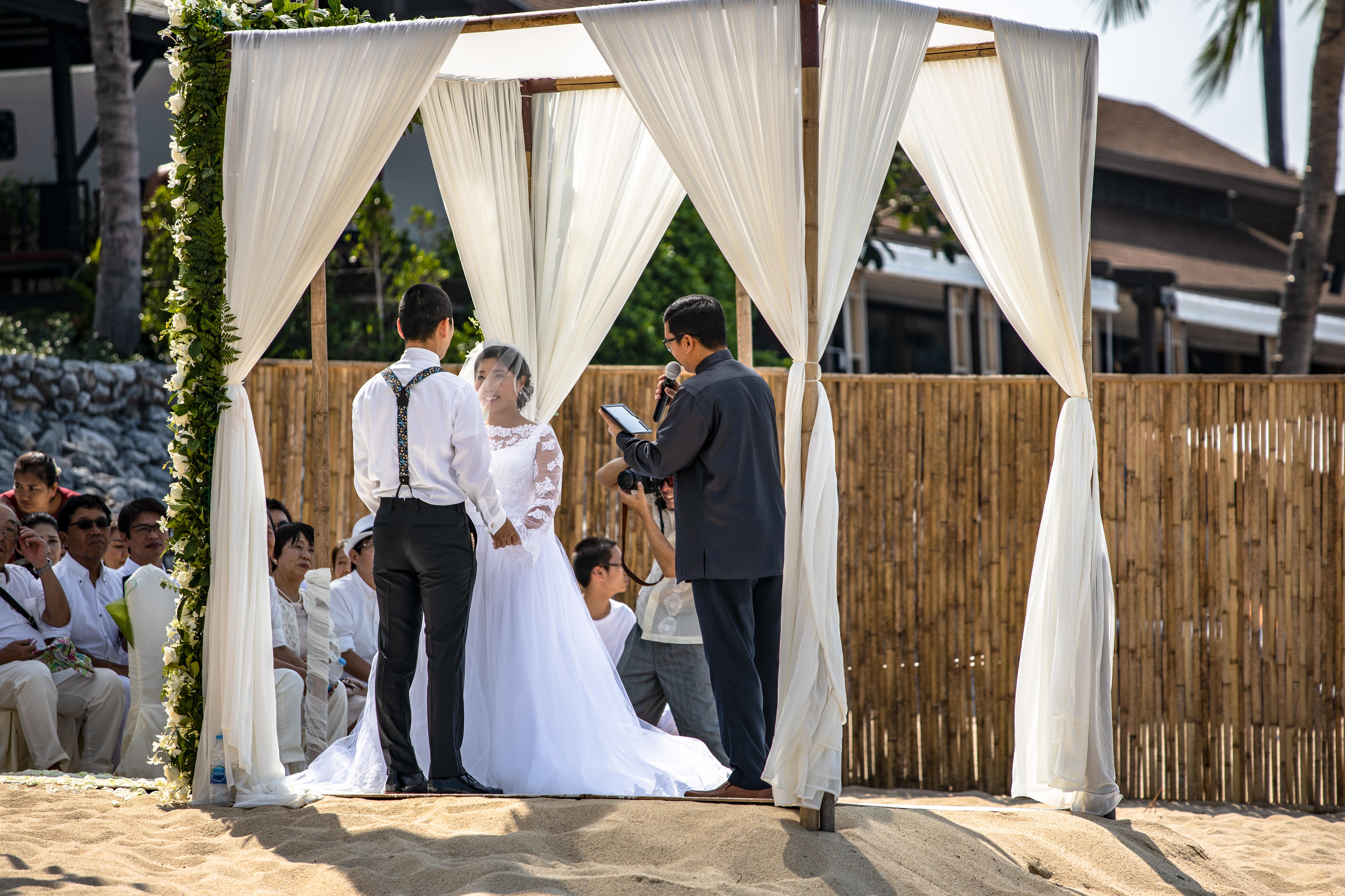 Hochzeit am Strand von Koh Samui