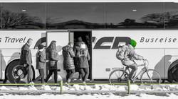 Bus gegen Fahrrad