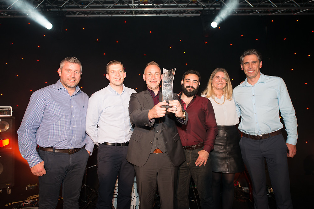 The team from Synthotech and Northern Gas Networks with their UK Energy Innovation Award at the 2017 event.