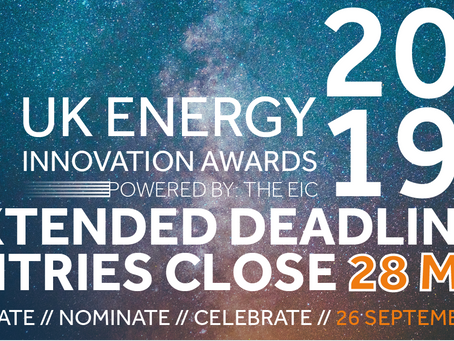 The deadline for the UK Energy Innovation Awards 2019 has been extended!