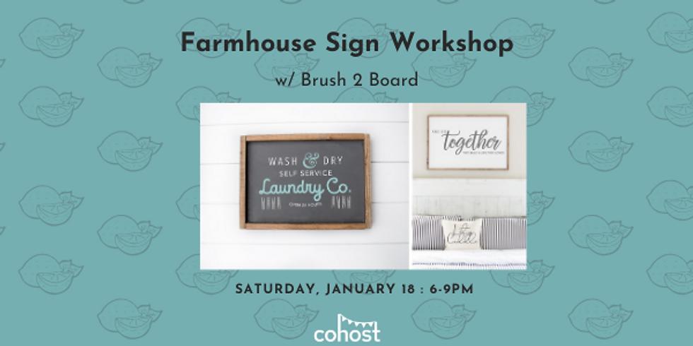 Farmhouse Sign Workshop