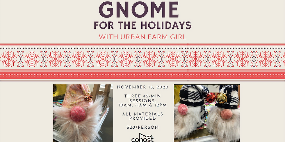Gnome for the Holidays (11am)