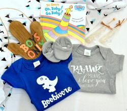 Custom Babysaurus Baby Basket