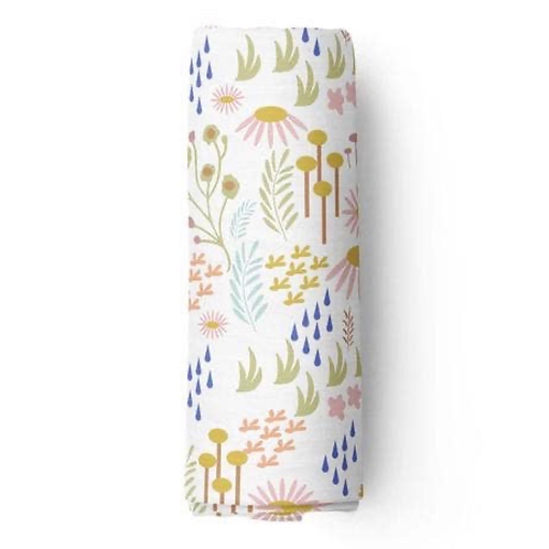 Floral Bamboo Swaddle