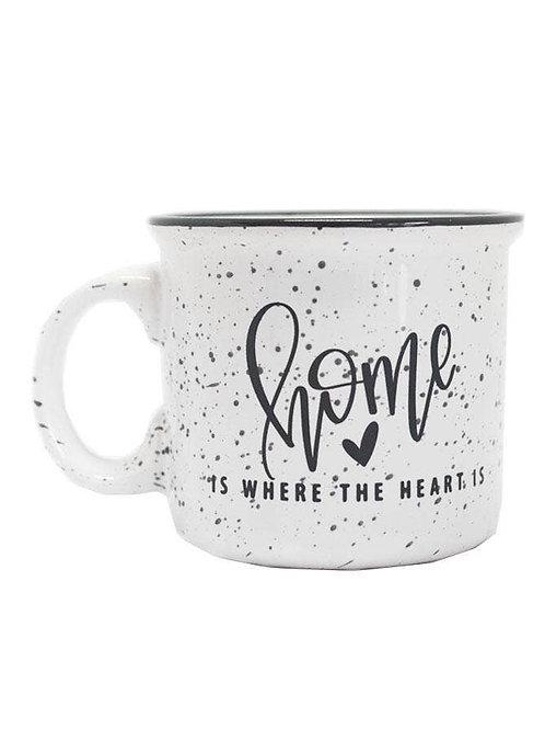 """Home is Where the Heart Is"" Camper Coffee Mug"