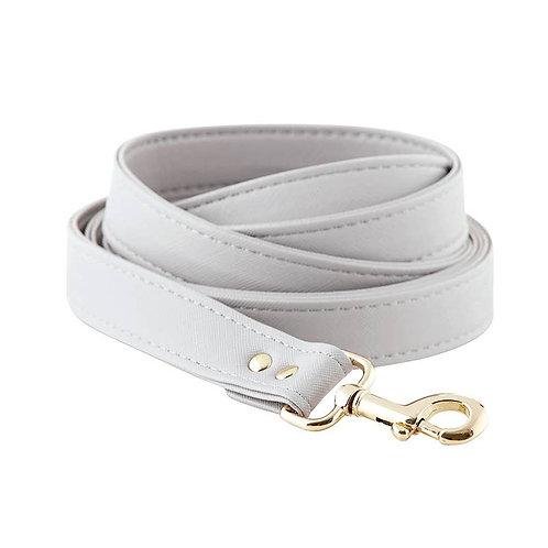 Saffiano Leash - Grey