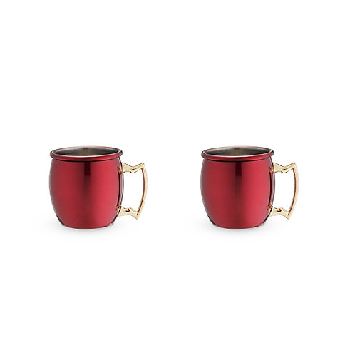 Red Moscow Mule Shot Glass