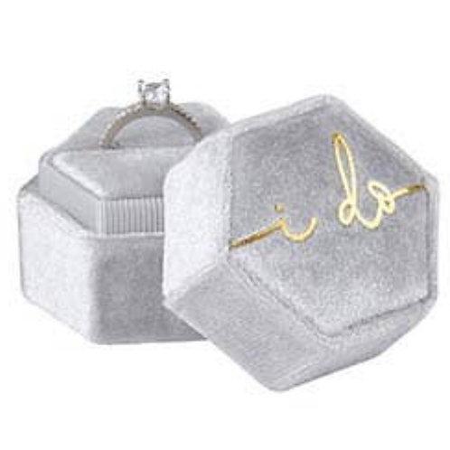 Velvet Ring Box - I Do