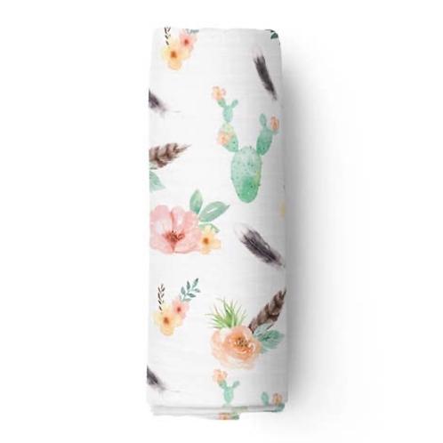 Desert Rose Bamboo Swaddle Blanket