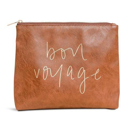 Bon Voyage Faux Leather Makeup Bag