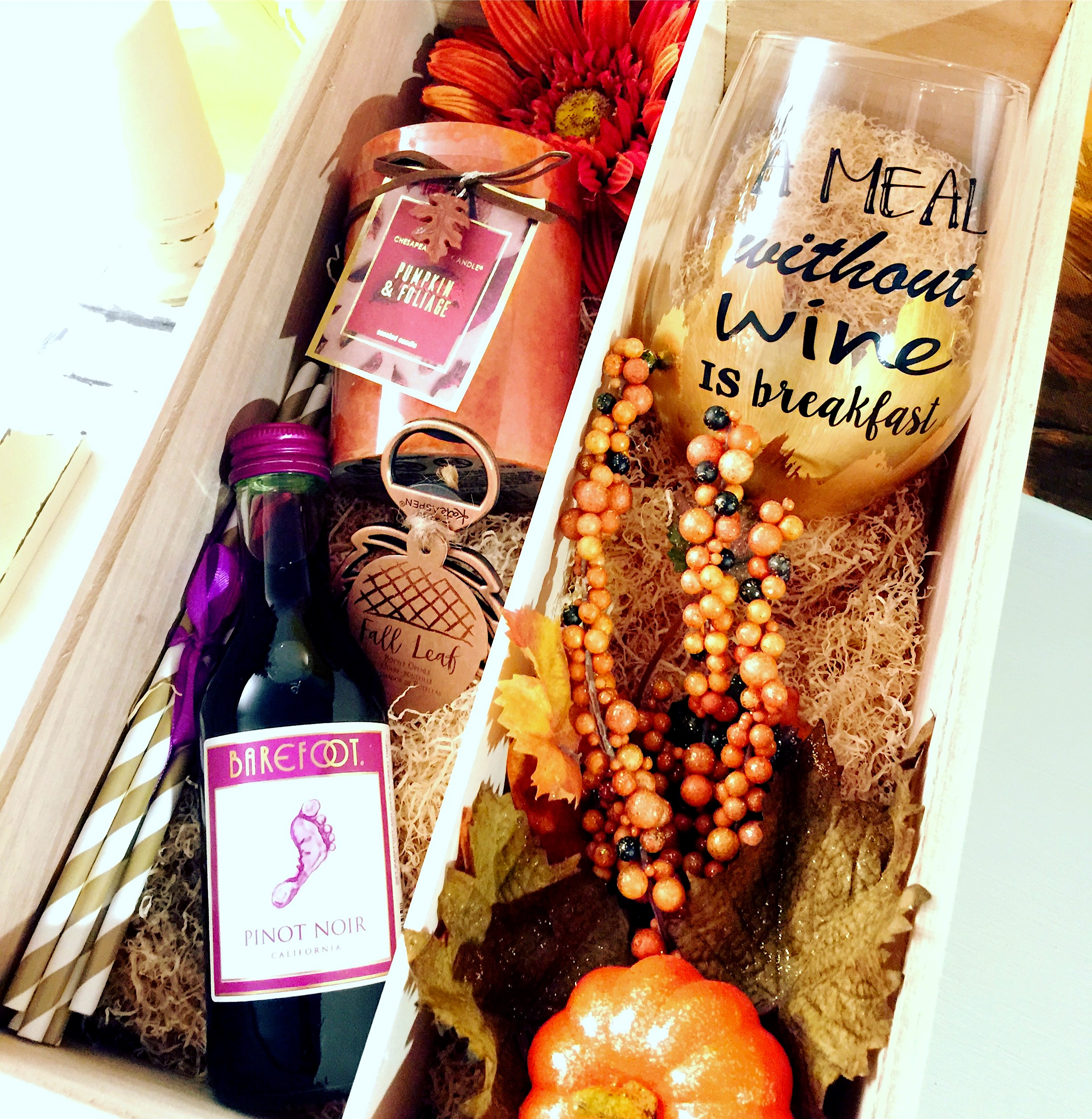 Fall Birthday Gift Box
