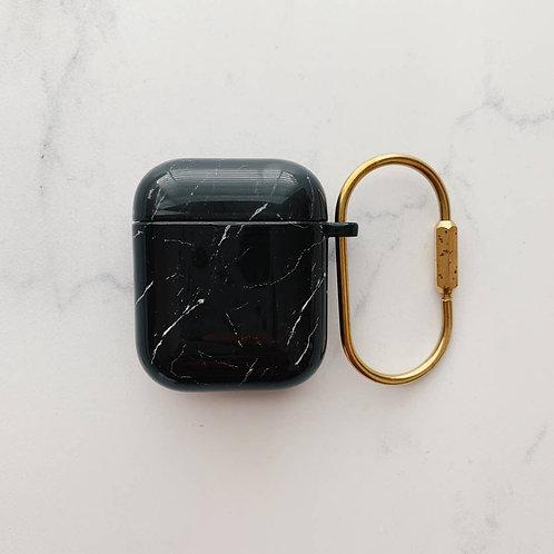 Black Marble Hard Airpod Case