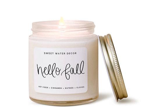Hello Fall Mini Soy Candle
