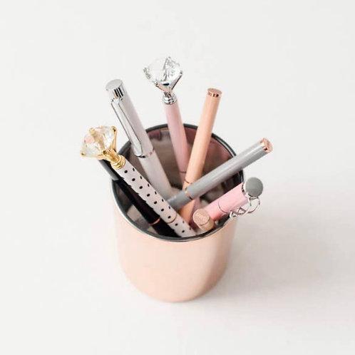 Rose Gold Pencil Holder