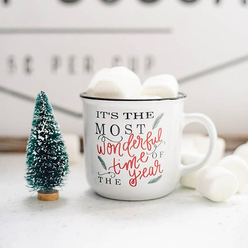 """It's The Most Wonderful"" Campfire Coffee Mug"