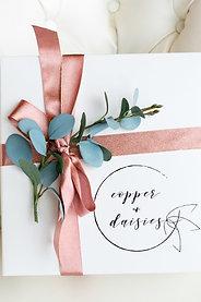 Copper + Daisies 10x10 Gift Box