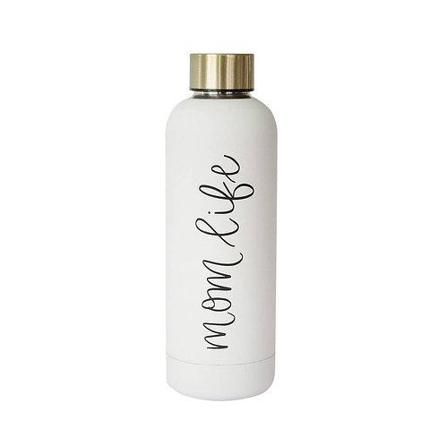 Mom Life Metal Water Bottle