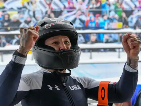 Humphries makes history, wins first-ever women's monobob World Championships