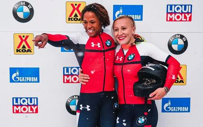 Humphries and Gibbs have golden start to women's bobsled World Cup season