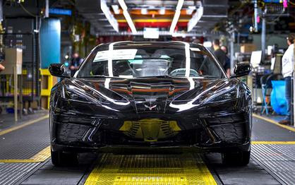 First 2020 Chevy Corvette C8 Rolls Off Line in Kentucky, Already Sold for $3 Million