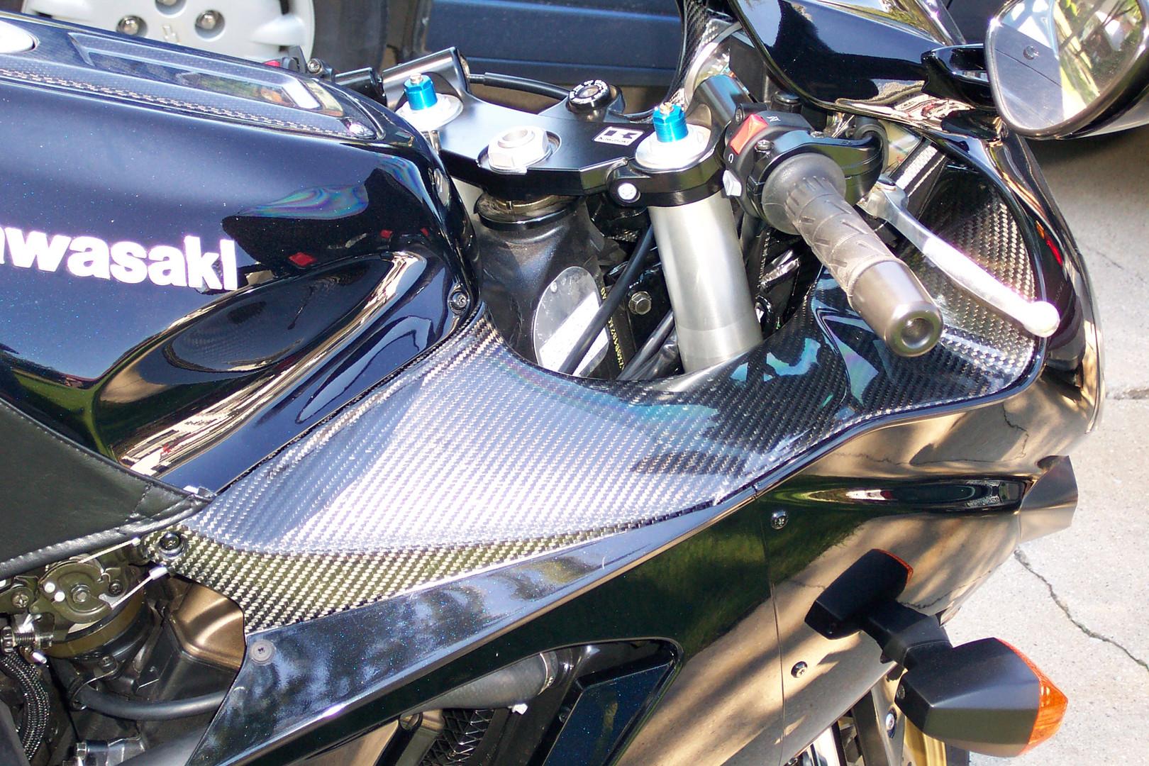 kawasaki carbon fiber debotech aftermarket