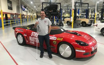 Dan Parker Aims to Be World's Fastest Blind Man in Corvette at 201 MPH