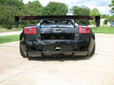Lamborghini custom debtoech spoiler