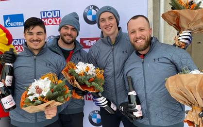 Church claims first career World Cup medal with Williamson, Reed and Horn in Igls' four-man bobsled