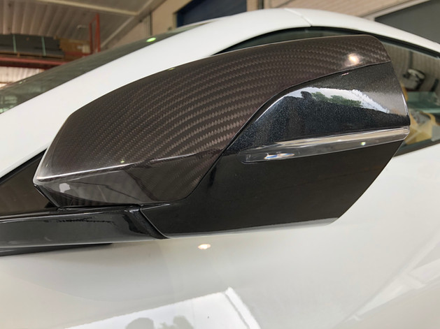 debotech carbon fiber mirror cap