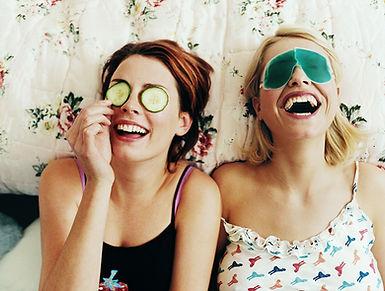 Muchachas de risa cambio de imagen