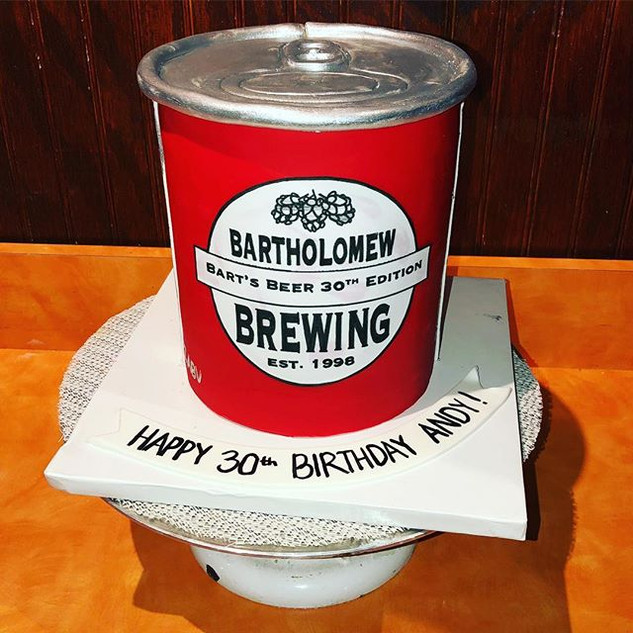Custom Beer Can Cake #beer #cake #baked