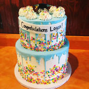 Fun Drip Graduation Cake 🎓