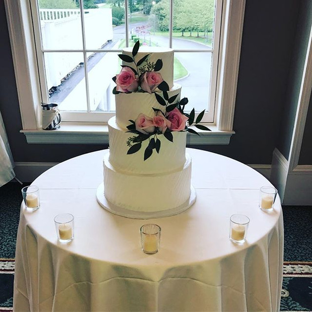 Simple Elegant Buttercream Wedding Cake