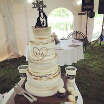 Simple Buttercream Birch Tree Wedding Ca