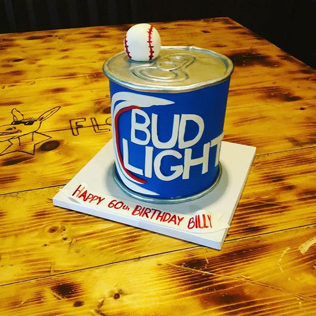 Bud Light - Baseball Birthday Cake #budl