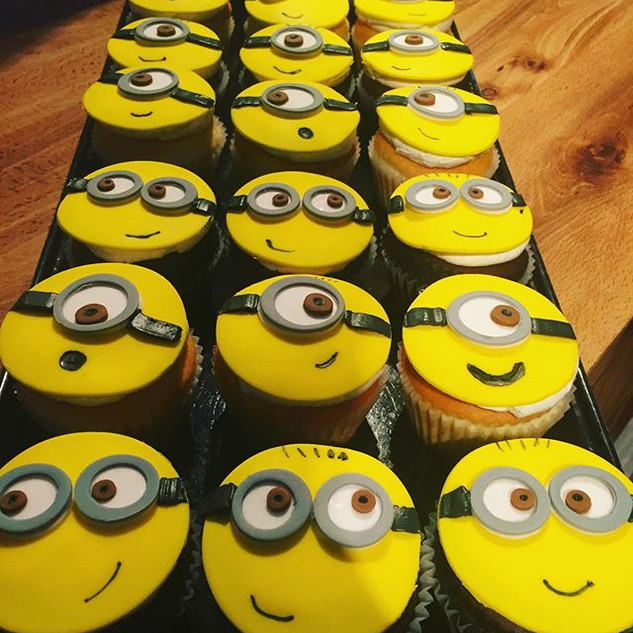 These cute minion cupcakes were so much