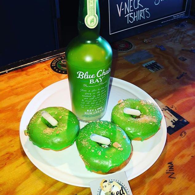 Our Key Lime Rum Doughnut, yeast risen r