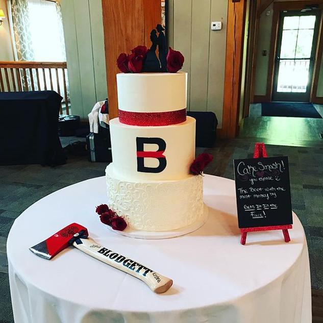 Firefighter Themed Wedding Cake