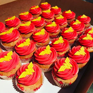 Red Funfetti Cupcakes to go with the won