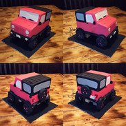 Neon Pink Jeep Cake #jeep