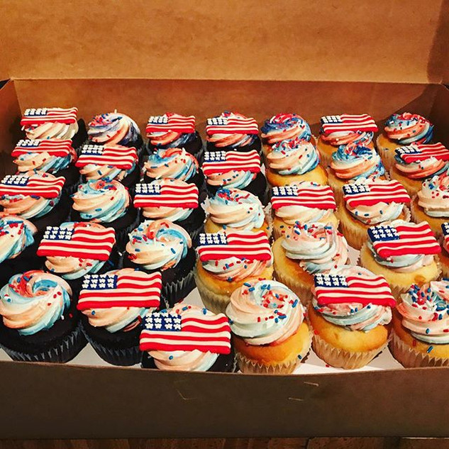 American Flag themed Cupcake 🇺🇸