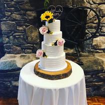 4 Tier Buttercream Wedding Cake 🌻 Congr