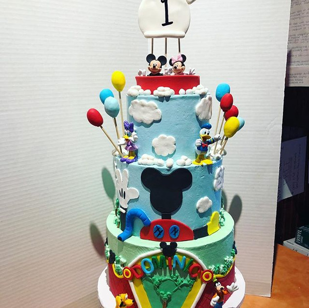 Mickey Mouse Clubhouse Birthday Cake #mi